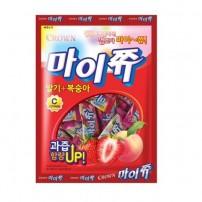 크라운 마이쮸 딸기+복숭아 328g