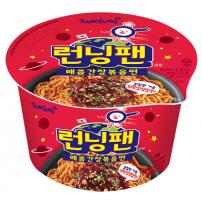 삼양 런닝팬 매콤간장볶음면 컵